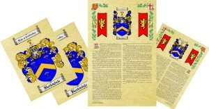 Jaynes Coat of Arms, Family Crest & History Combo