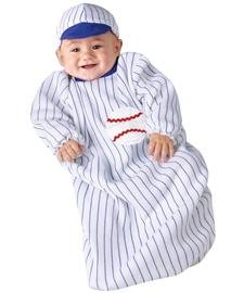Lil All Star Baseball Bunting Halloween Costume front-1031413