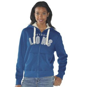 Detroit Lions NFL Ladies Team Fleece Hoodie Zip Sweatshirt by G-III Sports