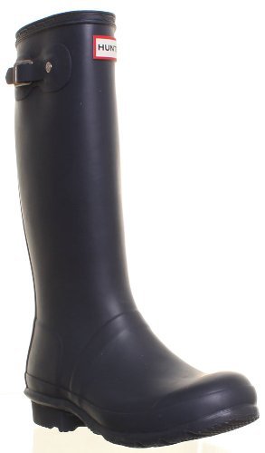 Hunter Wellies Wellington - Stivali da pioggia, per donna, Blu (Blu), 35/36