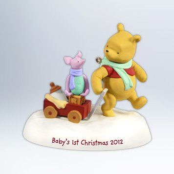Hallmark 2012 Keepsake Ornaments Qxd1601 Winnie The Pooh Baby's First Christmas Picture