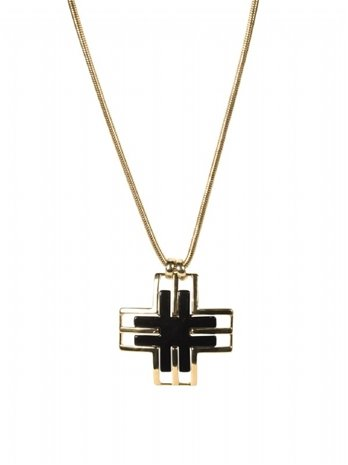 Jules Smith Twitter Necklace, Gold, One Size