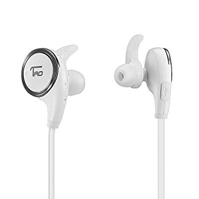 TaoTronics Bluetooth Earphones Wireless Earphones Sport Headphones Headsets with Mic(Bluetooth 4.1, Balanced Audio, aptX, CVC 6.0 Noise-Cancelling)