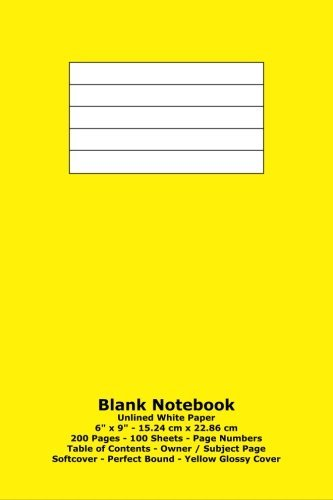 Blank Notebook: Unlined White Paper - 6