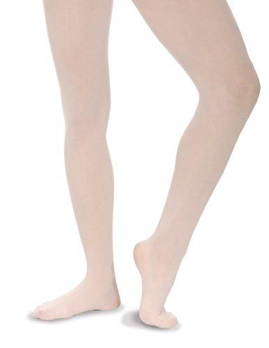 Roch Valley - Calze per ballerine di danza classica, senza cucitura - nylon, rosa, 11-13 anni