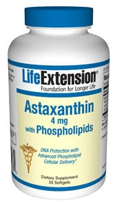 Life Extension Bio-Enhanced Astaxanthin with Phospholipids Softgels, 4 mg, 30 Count