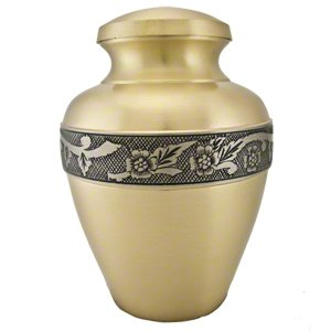 Elegant, High Quality Avalon Brass Pet Memorial Urn - Large