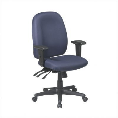 Interlink-Ink Blue Office Star Work Smart Multi-Function Ergonomic Chair with Ratchet Back and Adjustable Soft Padded Arms comforthigh quanlity office computer chair swivel lift ergonomic chair