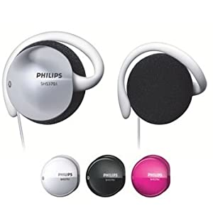 Philips SHS3701/27 Earclip Headphones with Interchangeable Color Caps (Discontinued by Manufacturer)