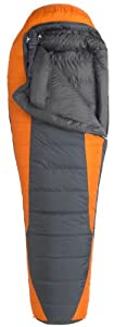 Marmot Never Summer MemBrain Down Sleeping Bag, Regular-Right,Flint/ Malaia Gold