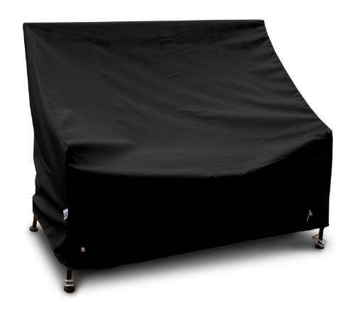 Koverroos Weathermax 74202 4-Feet Bench/Glider Cover, 51-Inch Width By 26-Inch Diameter By 35-Inch Height, Black front-17572