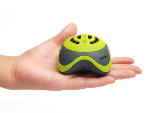 Kinivo ZX100 Mini Portable Speaker with Rechargeable Battery and Enhanced Bass Resonator (Green-Grey)