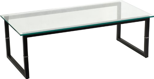 Flash Furniture FD-COFFEE-TBL-GG Glass Coffee Table, Clear