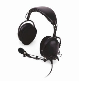 Kenwood Khs-10-Oh Noise Reduction Over-The-Headset With Noise Cancelling Boom Microphone And In-Line Ptt, Nrr 24 Db