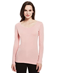 M&S Collection Longline T-Shirt with Modal