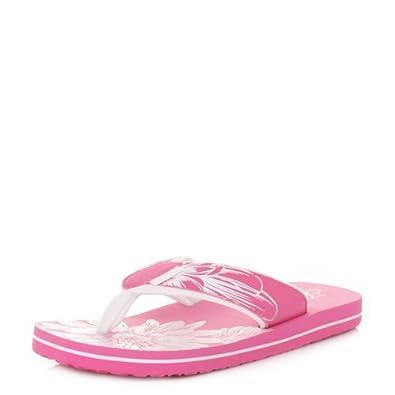Animal Swish Placement Carnation Pink Flip Flops SIZE 8