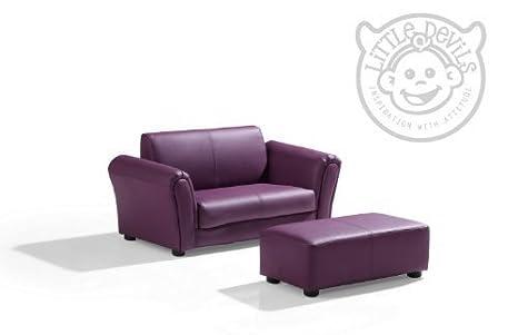 Lazybones - Sofá biplaza para niños (cuero)
