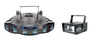 NEW! CHAUVET DERBY X RGB DMX Pro DJ Club Effect Strobe Light + Mini Strobe Light