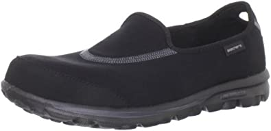 Skechers Women's Go Walk Slip-On,Black,7.5 M US