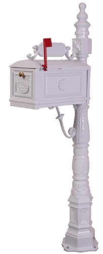 Victorian-Barcelona-Decorative-Cast-Aluminum-Better-Box-Mailbox-White