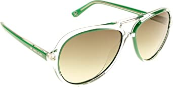 Michael Kors M2811S 304 Clear and Green Caicos Aviator Sunglasses Lens Category