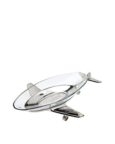 Godinger Airplane Glass Serving Tray