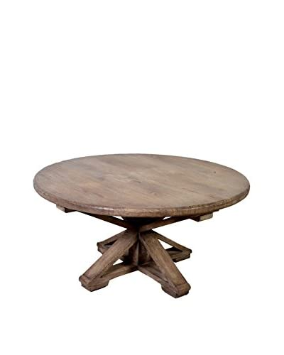 Jeffan Sonoma Vintage Round Coffee Table, Grey