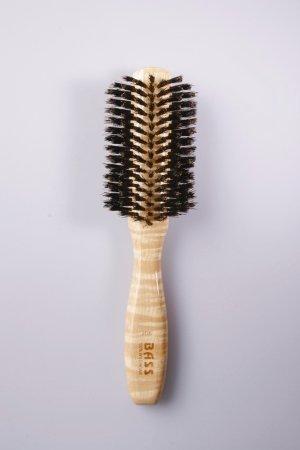 Brush - Classic Half Round Style 100% Wild Boar Bristles Light Wood Handle Bass Brushes 1 Brush