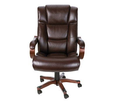 broyhill big tall executive chair brown mahogany boss bonded
