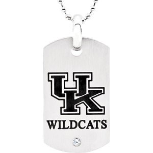 Kentucky Wildcats Logo Dog Tag with Chain by TheBeJeweledEgg Dog Tags