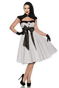 Rockabilly-Kleid weiß /schwarz S,M,L, XL,2XL 12 11 9 by Atixo