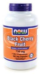 NOW Foods Black Cherry Fruit 750 mg - 180 Veg