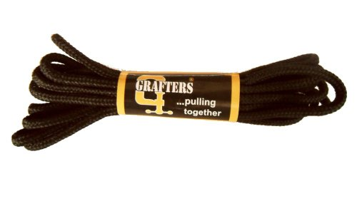 Grafters Strong 140cm Pair of Boot / Shoe Laces - Black