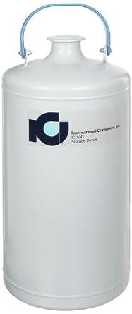 International Cryogenics IC-10D Liquid Nitrogen Storage Dewar, 10 Liter Capacity, Includes Neck Insert