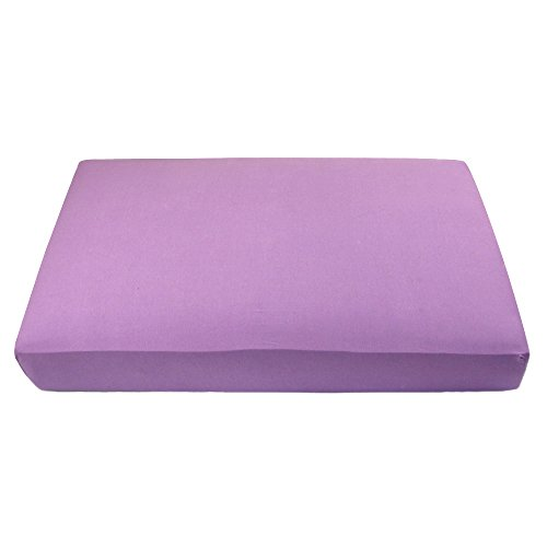 "My Blankee Organic Cotton Jersey Knit Crib Sheet -Purple 28""x52""x9"" drop"