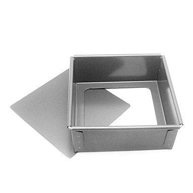 8 Inch Square Aluminum Cake Mold BOYI B00TEQOREQ