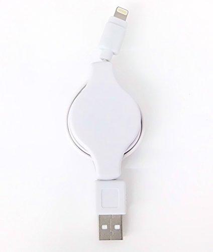 エアージェイ MFI認証 USBライトニングケーブル巻取りタイプ 90cm iPhone 6 Plus/6/5S / 5C / 5/iPadAir iPadmini/iPod nano/iPad mini Retina対応 対応 充電 データ通信 ホワイト MUJ-R WH