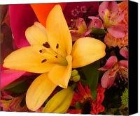 Spring Lily Bouquet Canvas Print / Canvas Art - Artist Amy Vangsgard