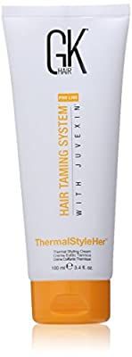 Global Keratin Hair Taming System Thermal Style Her Styling Cream for Unisex, 3.4 Ounce