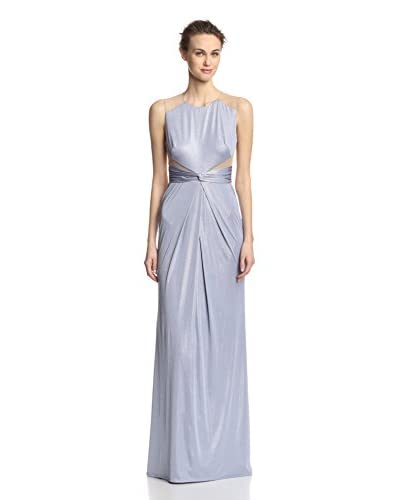 A.B.S. by Allen Schwartz Women's Draped Front Gown with Mesh Cutouts
