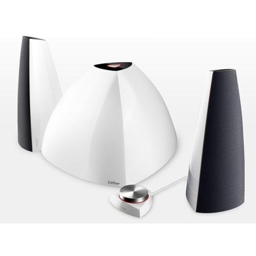 Edifier 4009839 Edifier Prisma Exotic Subwoofer Housing With Stylish Satellites Wired To A Red-Halo Rotary Volume Control