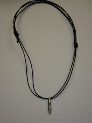 Bullet Pendant with Black Leather from HOMME Collection by Mauricio Serrano