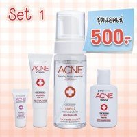 Dr. Somchai Anti-acne Set: Foaming Cleanser, Lotion, Acne Cream & Acne Repair Amazing of Thailand