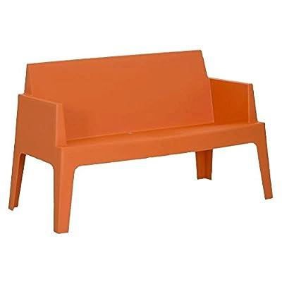 Gartensofa stapelbar aus Kunststoff Orange - Modell La Dolce Vita von Homy - Gartenmöbel von Du und Dein Garten