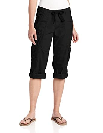 Calvin Klein Performance Women's Multi-Pocket Convertible Cargo Capri 22 Inch, Black, X-Small