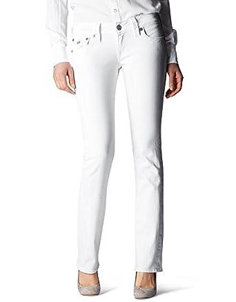 True Religion Women's Billy Straight Jean Body Rinse White 24
