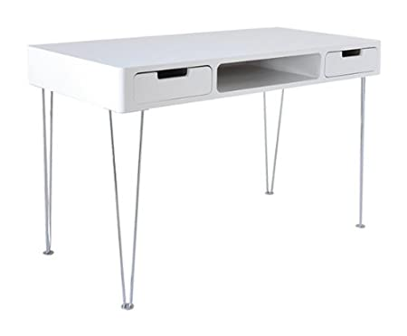 Smile Lacquer Writing Desk, 120 x 60 x 76 cm, White
