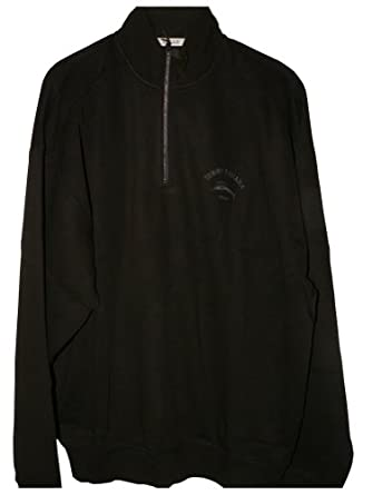 Tommy Bahama Caribbean Half Zip Pullover (Color: Black, Size XL)