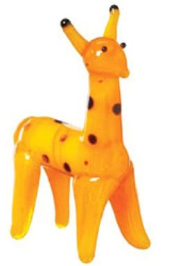 Picture of by Ganz Miniature Glass Giraffe Figurine Figure (B002O0W5UC) (by Ganz Action Figures)