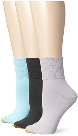 Gold Toe Women's Anklet 3 Pack Dress Socks at Amazon Women ...